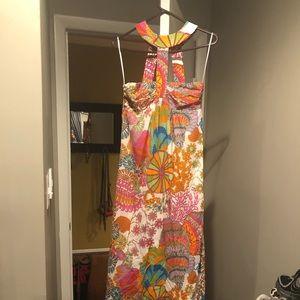 Trina Turk Halter Maxi Dress sz 4